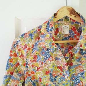 J CREW Liberty Perfect Shirt in Margaret Annie